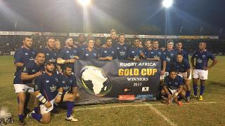 Rugby Africa Gold Cup 2017 Trophy lift