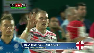 Try, RUARIDH MCCONNOCHIE, Fiji v ENGLAND