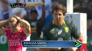 Try, KWAGGA SMITH, SOUTH AFRICA v France