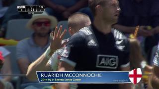 Try, RUARIDH MCCONNOCHIE, ENGLAND v New Zealand