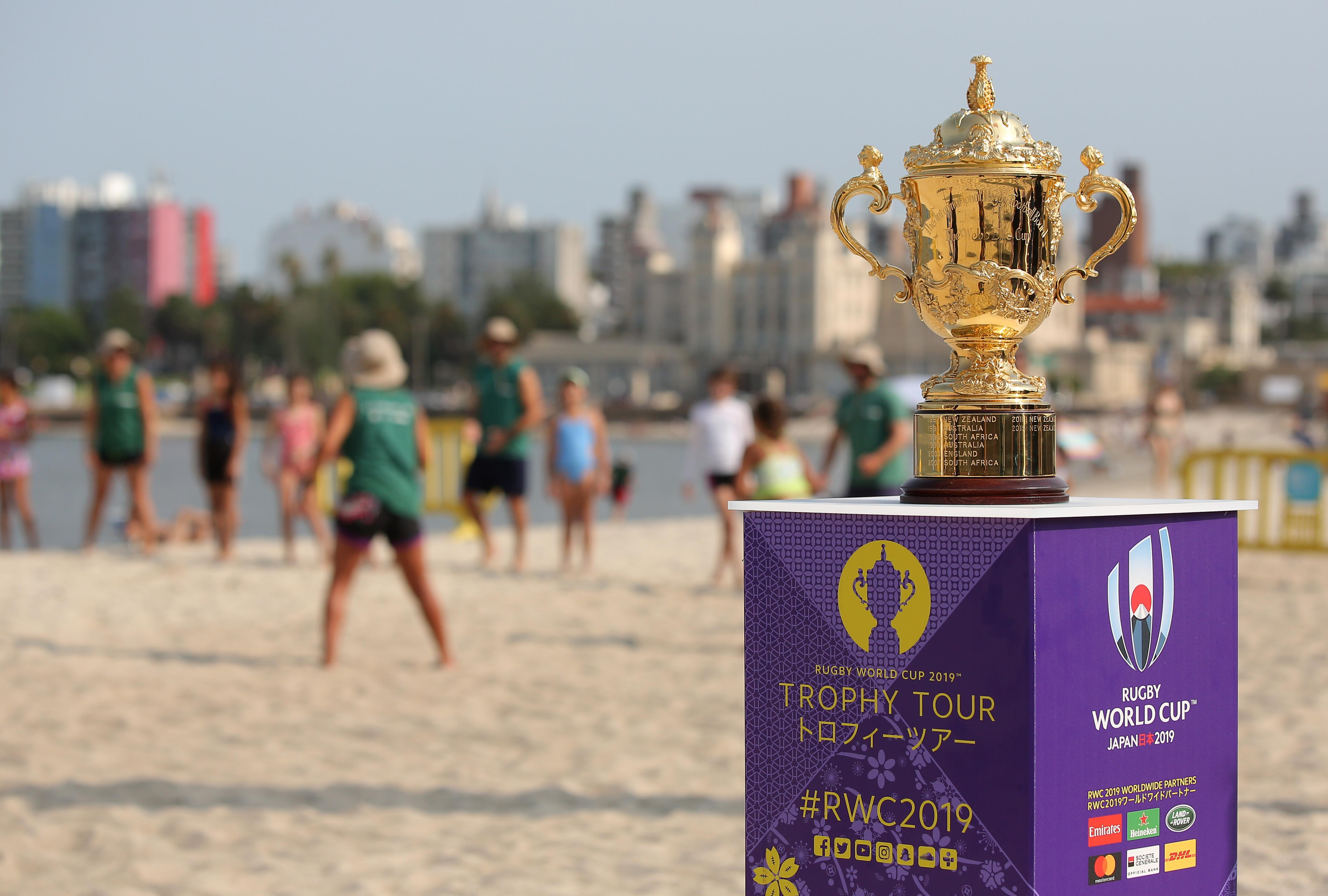 Rugby World Cup 2019 Trophy Tour Rounds Off A Successful Week For Uruguay Rugby World Cup Rugbyworldcup Com