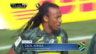 Try, Cecil Afrika, SOUTH AFRICA v England