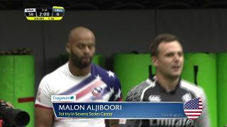 Try, Malon Aljiboori, USA v Uruguay