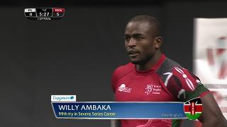 Try, Willy Ambaka, Fiji vs KENYA