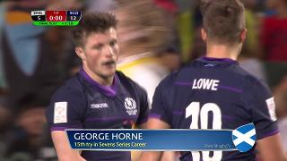 Try, George Horne, England vs SCOTLAND