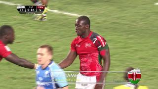 Try, Billy Odhiambo, Fiji v KENYA