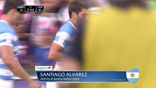 Try, Santiago Alvarez, ARGENTINA v Usa