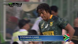 Try, Stedman Gans, SOUTH AFRICA v New Zealand