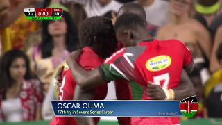 Try, Oscar Ouma, Fiji v KENYA