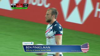 Try, Ben Pinkelman, USA vs England
