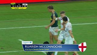Try, Ruaridh Mcconnochie, South Africa vs ENGLAND