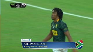 Try, Stedman Gans, SOUTH AFRICA vs England