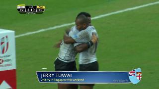 Try, Jerry Tuwai, FIJI vs Australia