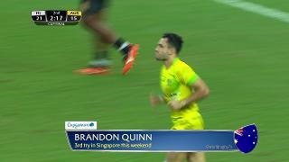 Try, Brandon Quinn, Fiji vs AUSTRALIA