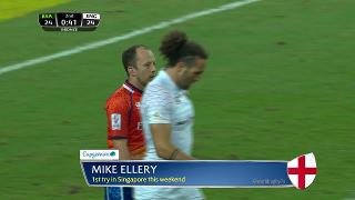 Try, Mike Ellery, South Africa vs ENGLAND
