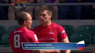 Try, German Davydov, RUSSIA v Scotland