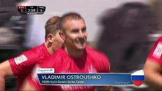 Try, Vladimir Ostroushko, RUSSIA v Wales