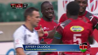 Try, Jeffery Oluoch, KENYA v Wales