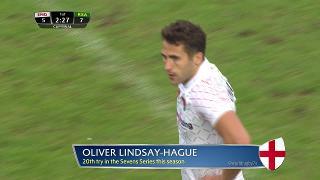 Try, Oliver Lindsay-Hague, ENGLAND v South Africa