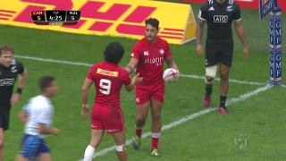 Try, WALES v New Zealand