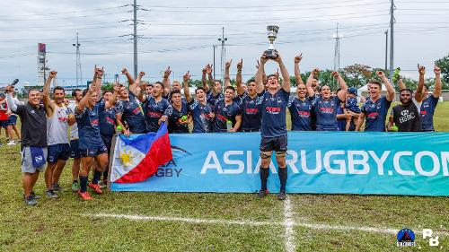 Asia Rugby Championship Division 1 2018 trophy lift