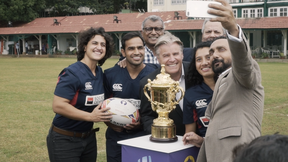 Rugby World Cup 2019 Trophy Tour: Webb Ellis Cup inspires India