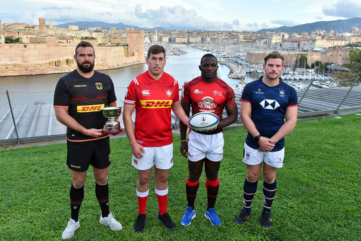 RWC 2019 Repechage captains photo