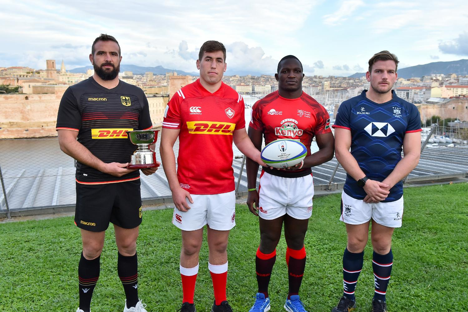 RWC 2019 Repechage captains' photo