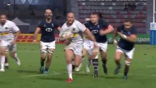 Kurt Haupt's brilliant try for Germany