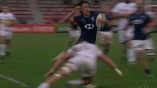 Brilliant try saving tackle