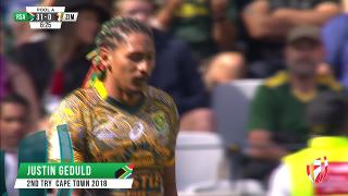Try, JUSTIN GEDULD, SOUTH AFRICA v Zimbabwe