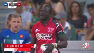 Try, ALVIN OTIENO, France v KENYA