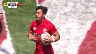 Try, NATHAN HIRAYAMA, Australia v CANADA