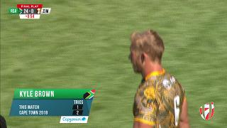 Try, KYLE BROWN, SOUTH AFRICA v Zimbabwe
