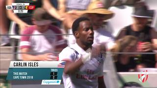 Try, CARLIN ISLES, USA v Spain
