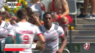 Try, KEVON WILLIAMS, USA v Spain