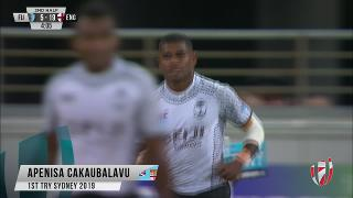 Try, Apenisa Cakaubalavu - FIJ v Eng