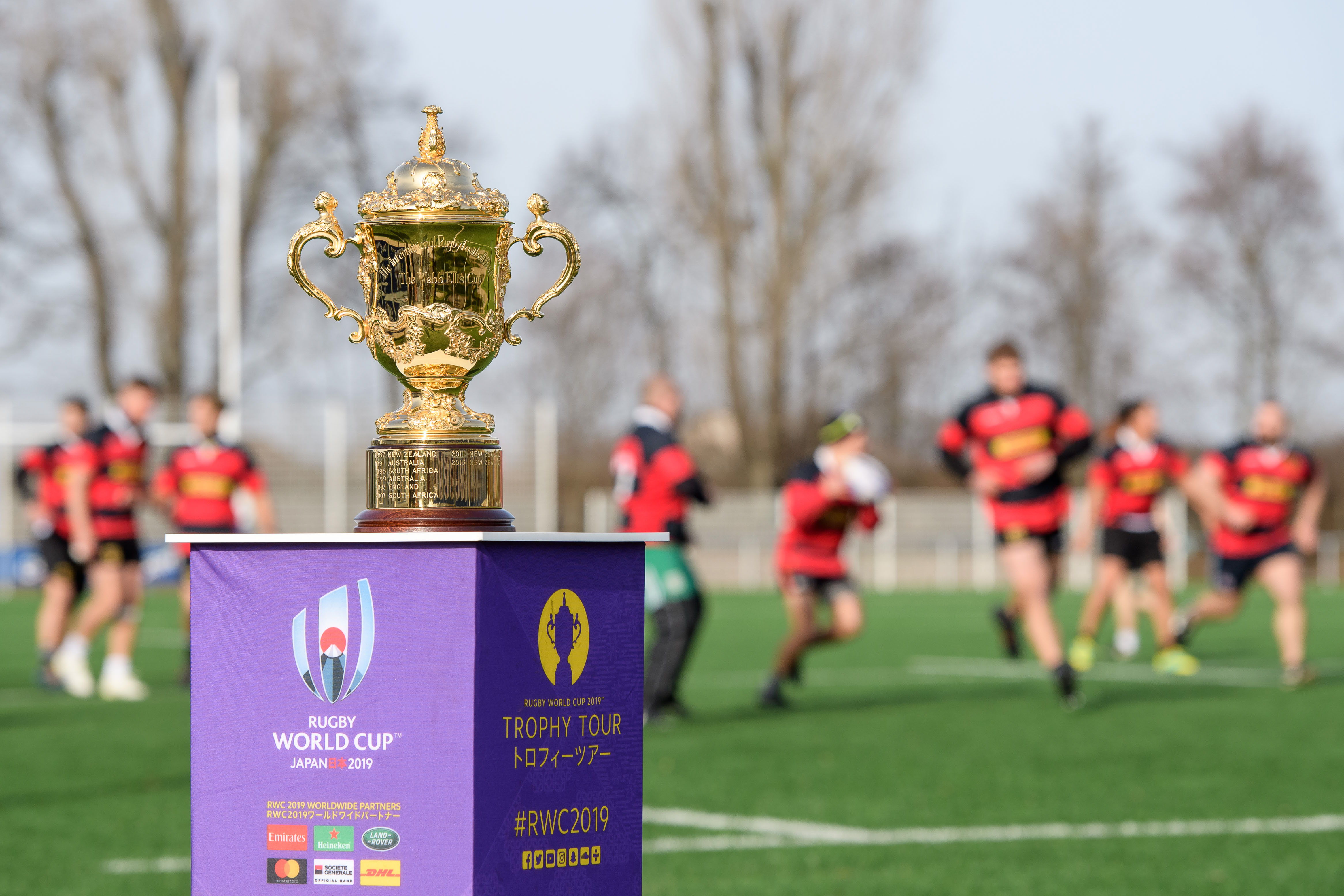 German National Team Welcome The Webb Ellis Cup To Heidelberg As The Rugby World Cup 2019 Trophy Tour Kicks Off In Germany Rugby World Cup Rugbyworldcup Com