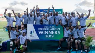 World Rugby Pacific Challenge 2019 trophy lift