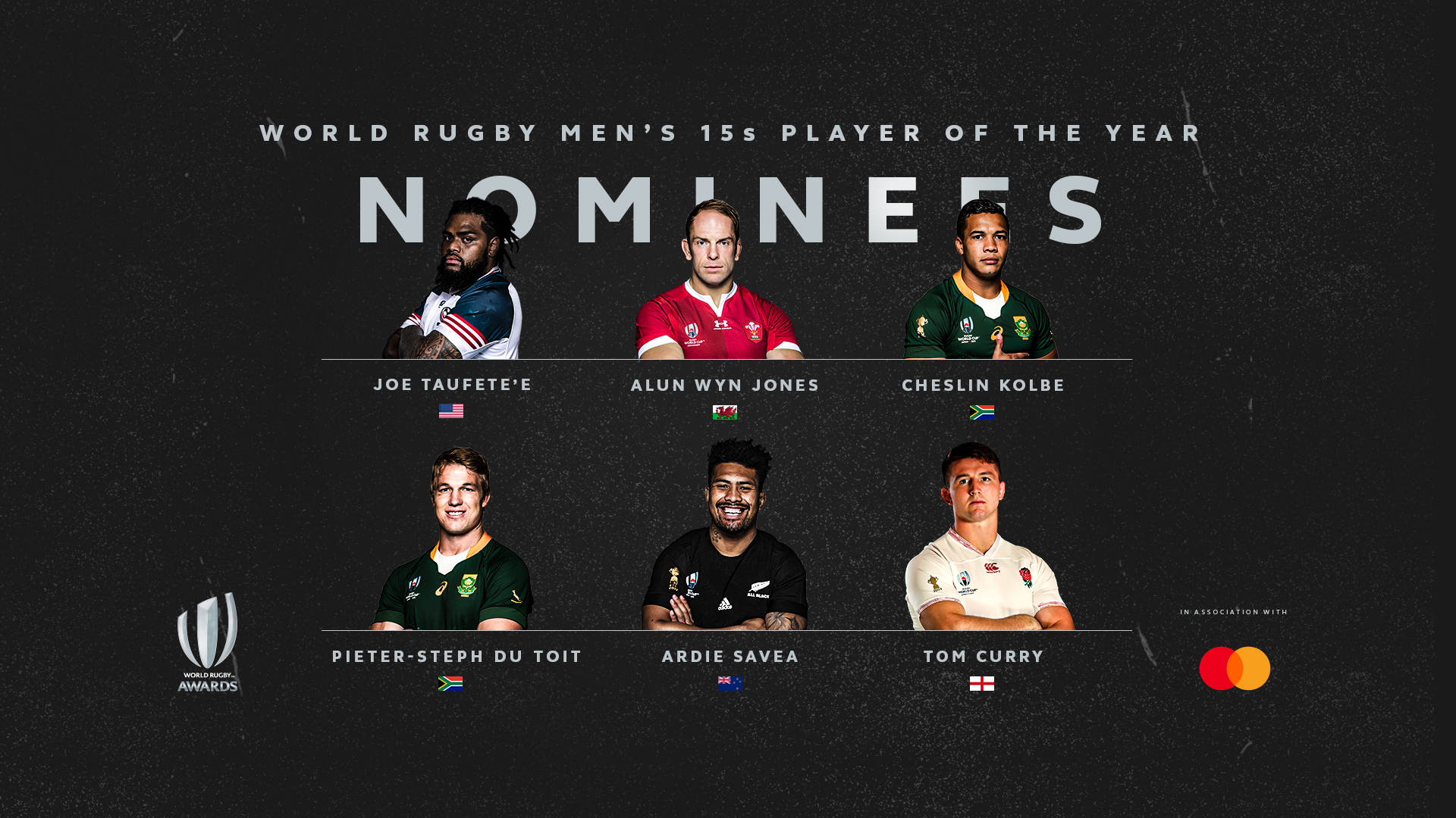 Nominees For World Rugby Players Of The Year Announced Rugby World Cup Rugbyworldcup Com